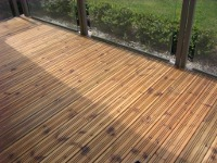 Polished decking