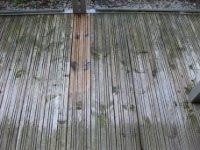 Weathered decking