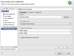 Eclipse Remote Java Application debug dialog
