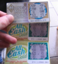 Winning scratchcards